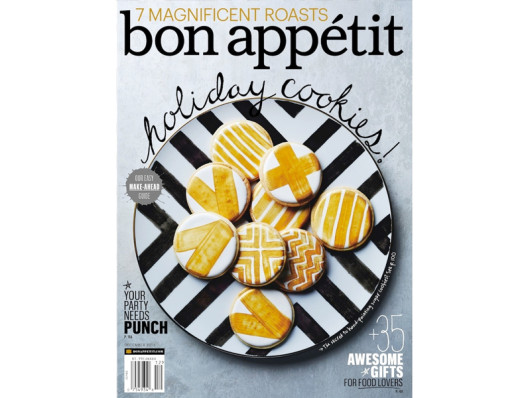Bon Appetit January 2014 Waggo Ceramic Chalkboard Dog Bowl