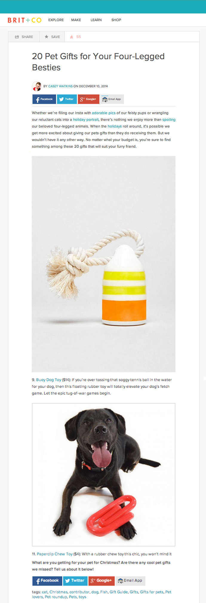 BritAndCo December 2014 Gift Guide Colorful Chew Toys