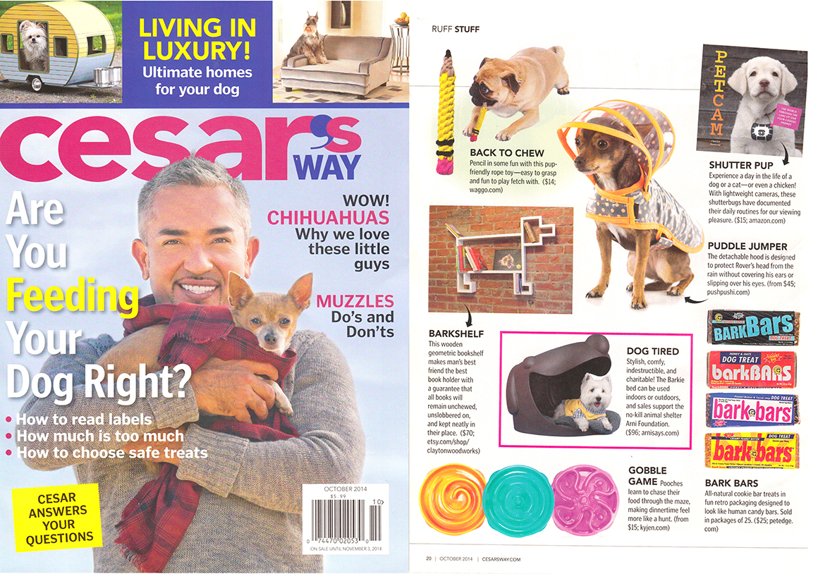 Cesars Way Magazine October 2014 Cotton Rope Pencil Dog Toy