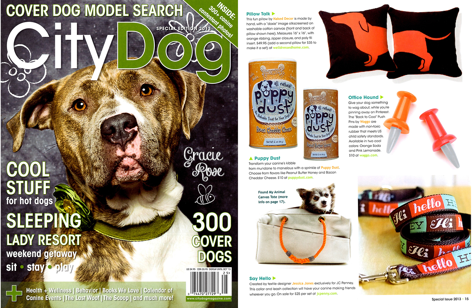 City Dog Magazine August 2013 Funny Rubber Dog Chew