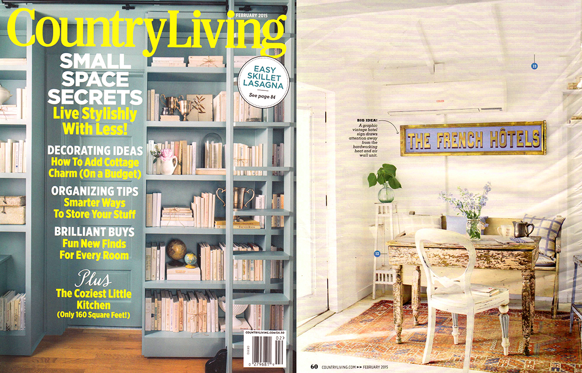 Country Living February 2015 Waggo Home Checked Designer Pillows