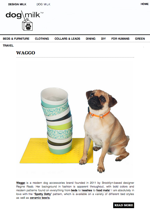 DogMilk.com August 2012 Waggo Modern Ceramic Dog Bowls