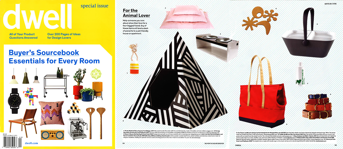 Dwell Source Book December 2014 Pet Gift Guide Funny Dog Toy