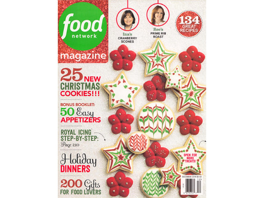 Food Network Magazine December 2014 Designer Watercolor Print Dog Bowl