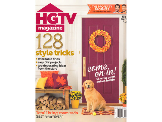 HGTV Magazine November 2014 Dog Tennis Ball