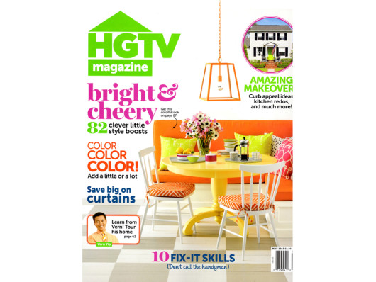 HGTV Magazine April 2013 Waggo Colorful Dog Toys