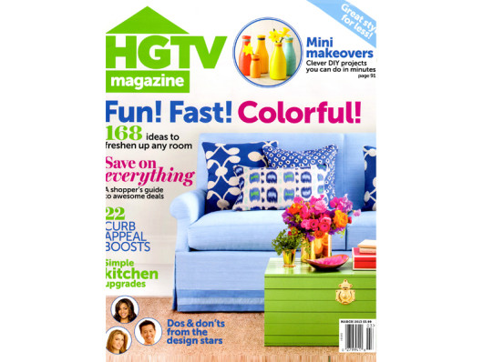 HGTV Magazine March 2013 Waggo Ceramic Dog Bowls