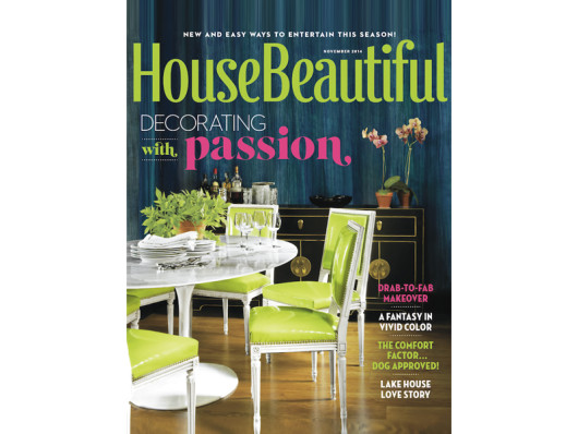 House Beautiful November 2014 Modern Printed Birch Trays