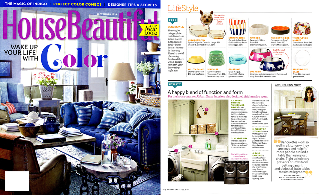 House Beautiful September 2014 Best Designer Ceramic Dog Bowls