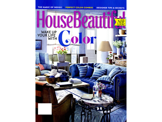 House Beautiful September 2014 Colorful Ceramic Dog Bowls