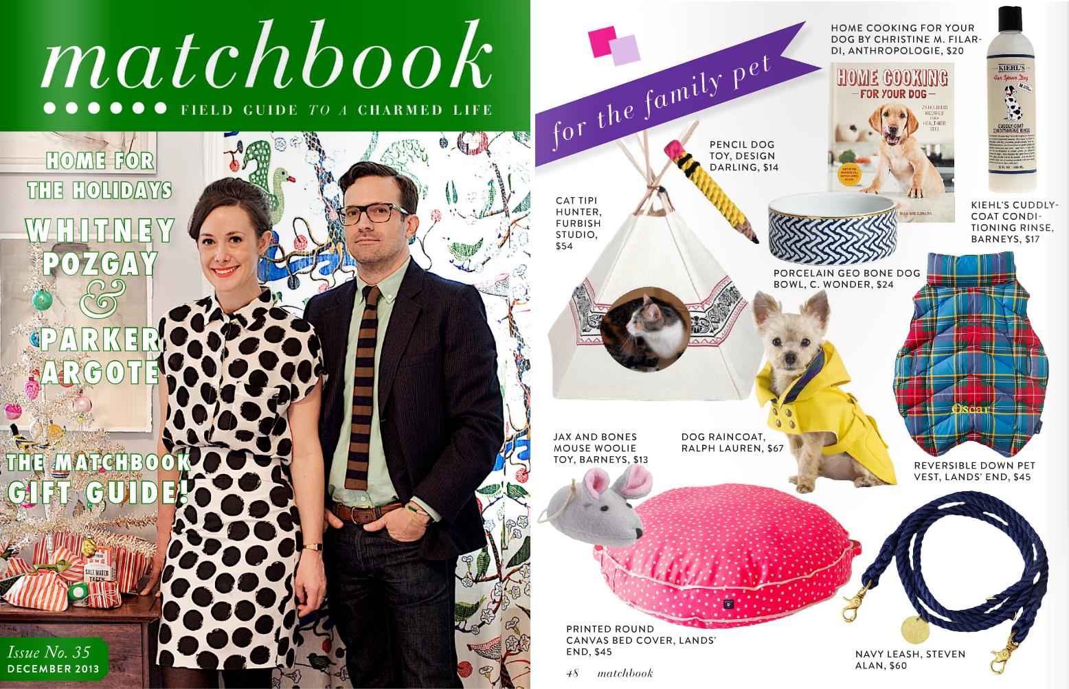 Matchbook Magazine December 2013 Funny Rope Dog Toy