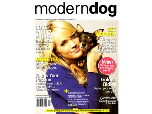 Modern Dog Magazine December 2012 Waggo Best Dog Gifts