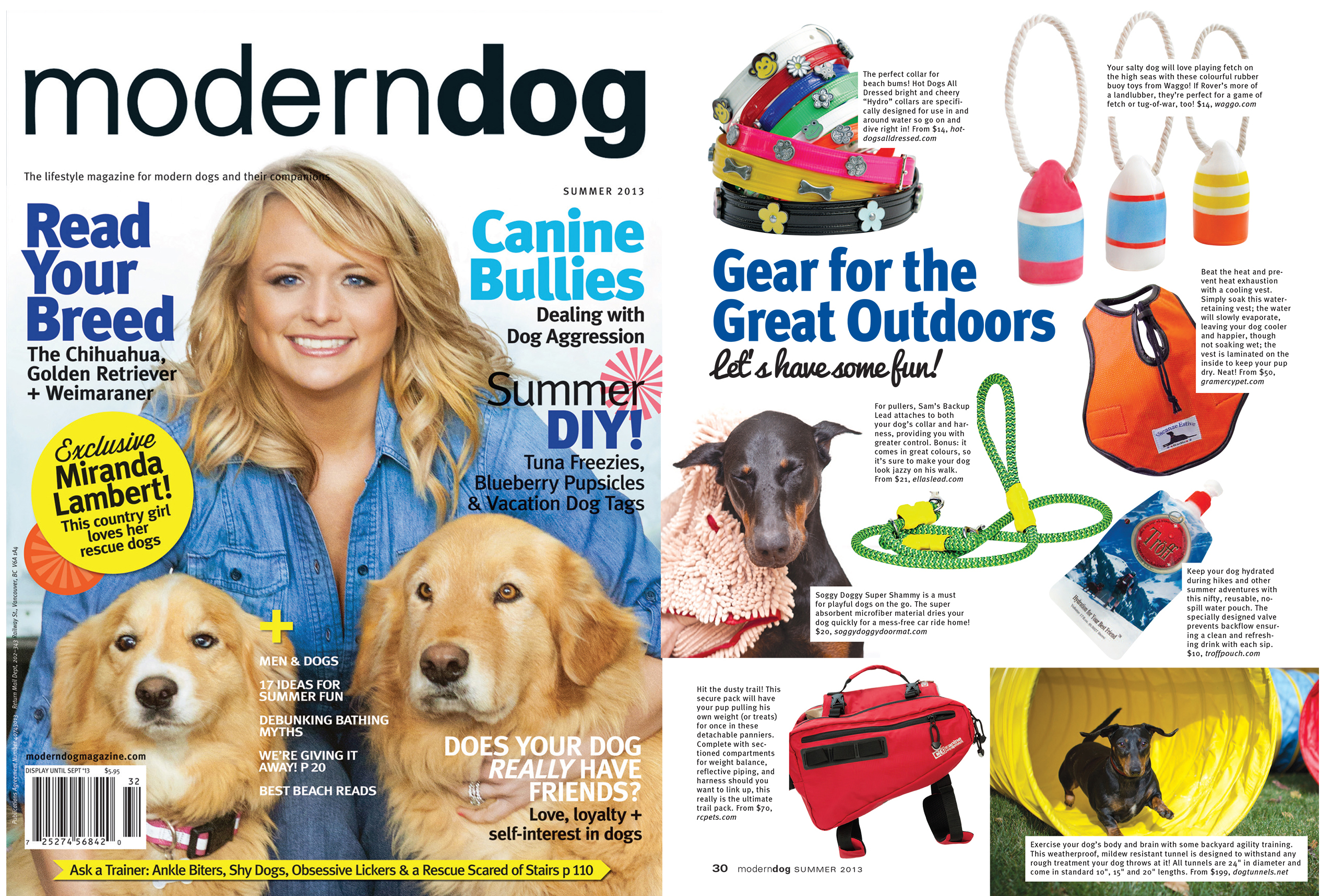 Modern Dog Magazine July 2013 Funny Buoy Dog Toys