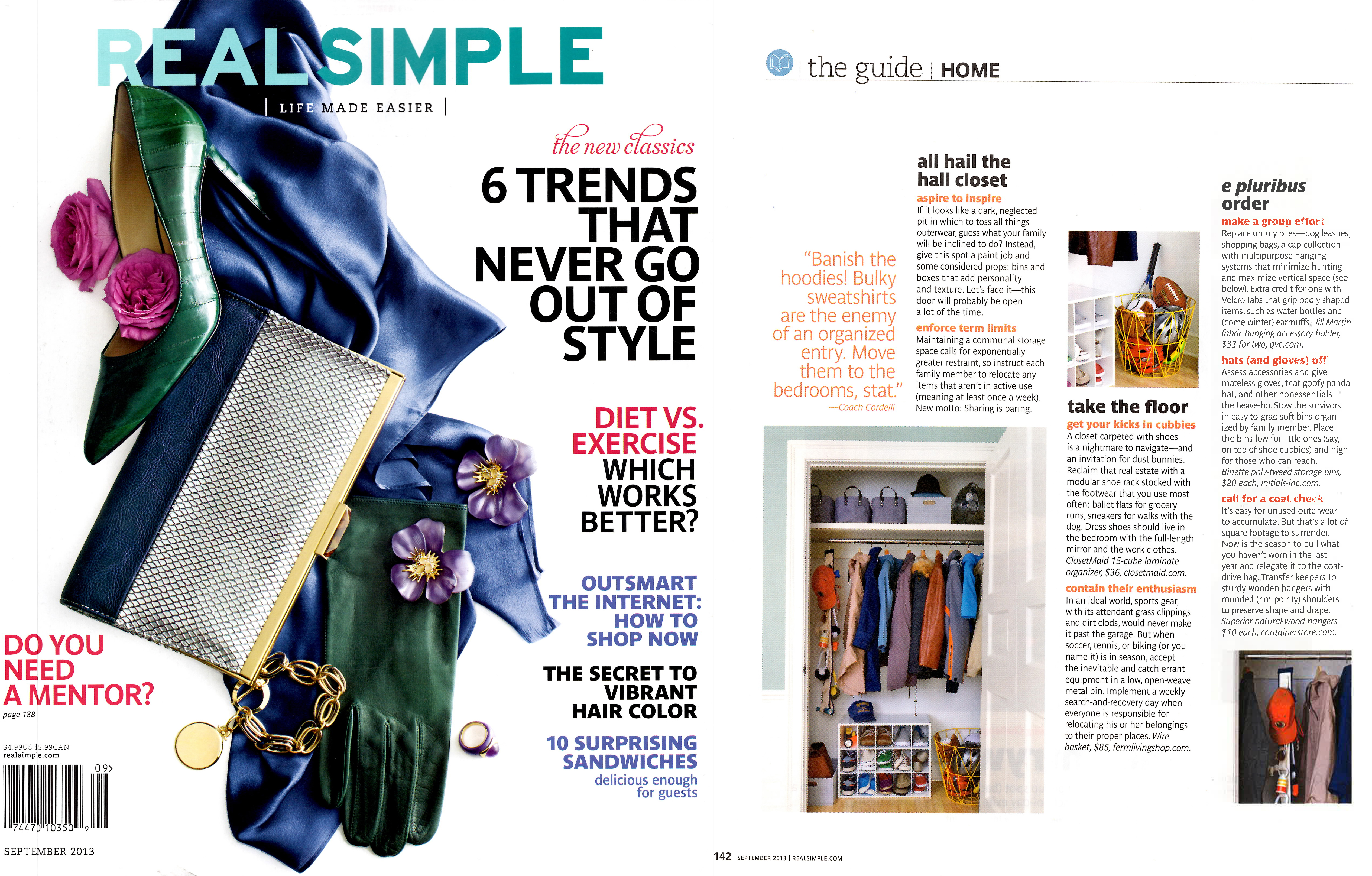 Real Simple August 2013 Colorful Dog Toys and Dog Storage