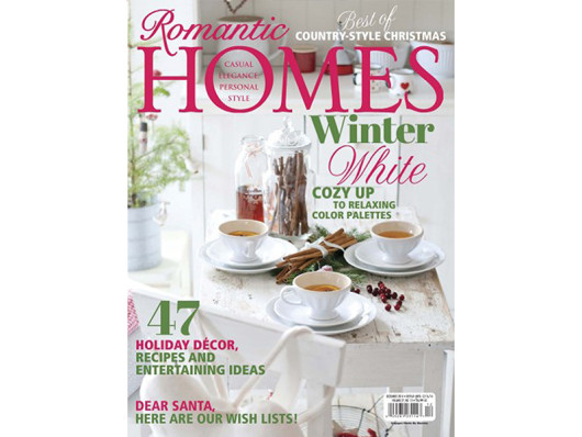 Romantic Homes December 2014 Hand Painted Ceramic Dishes