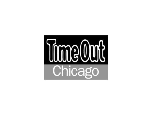 Time Out Chicago November 2014 Gold Ceramic Dots Dog Bowl
