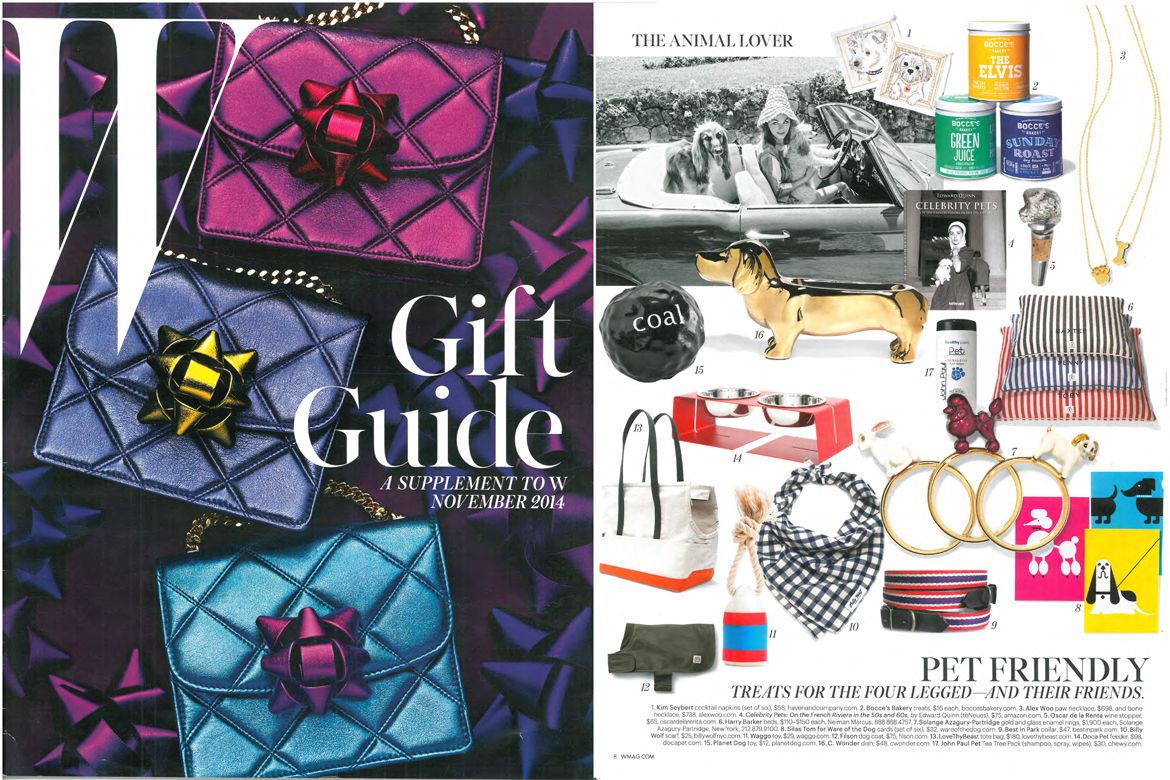 W Magazine November 2014 Gift Guide Funny Rubber Dog Toy