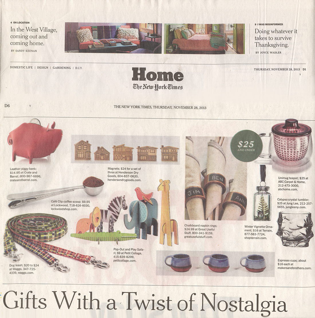 New York Times Gift Guide Waggo Leash November 2013
