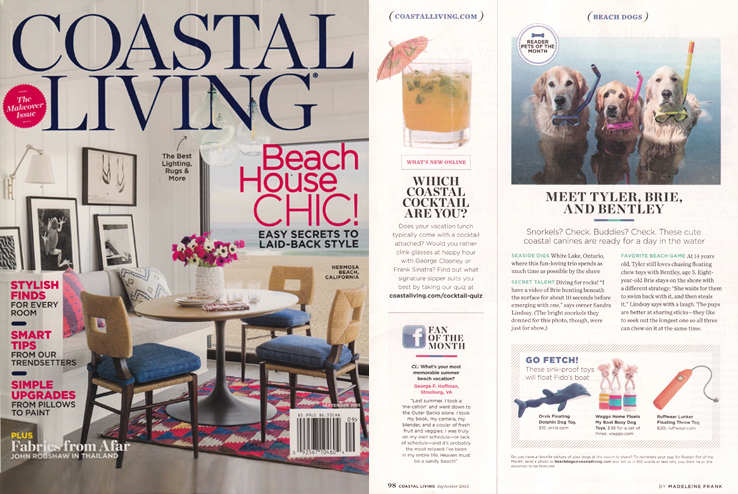 Coastal Living Sept 2015 Waggo