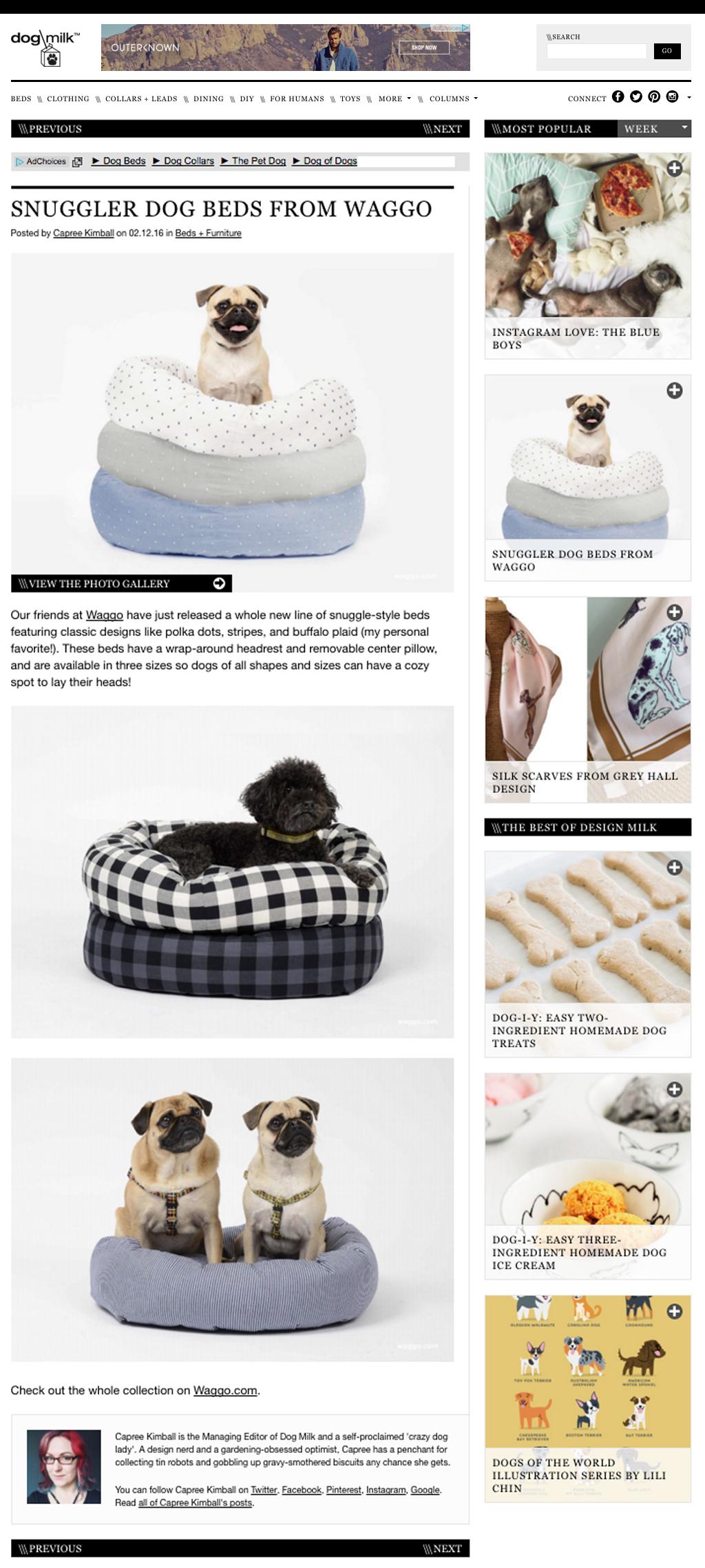 Waggo Dogmilk Dog Bed