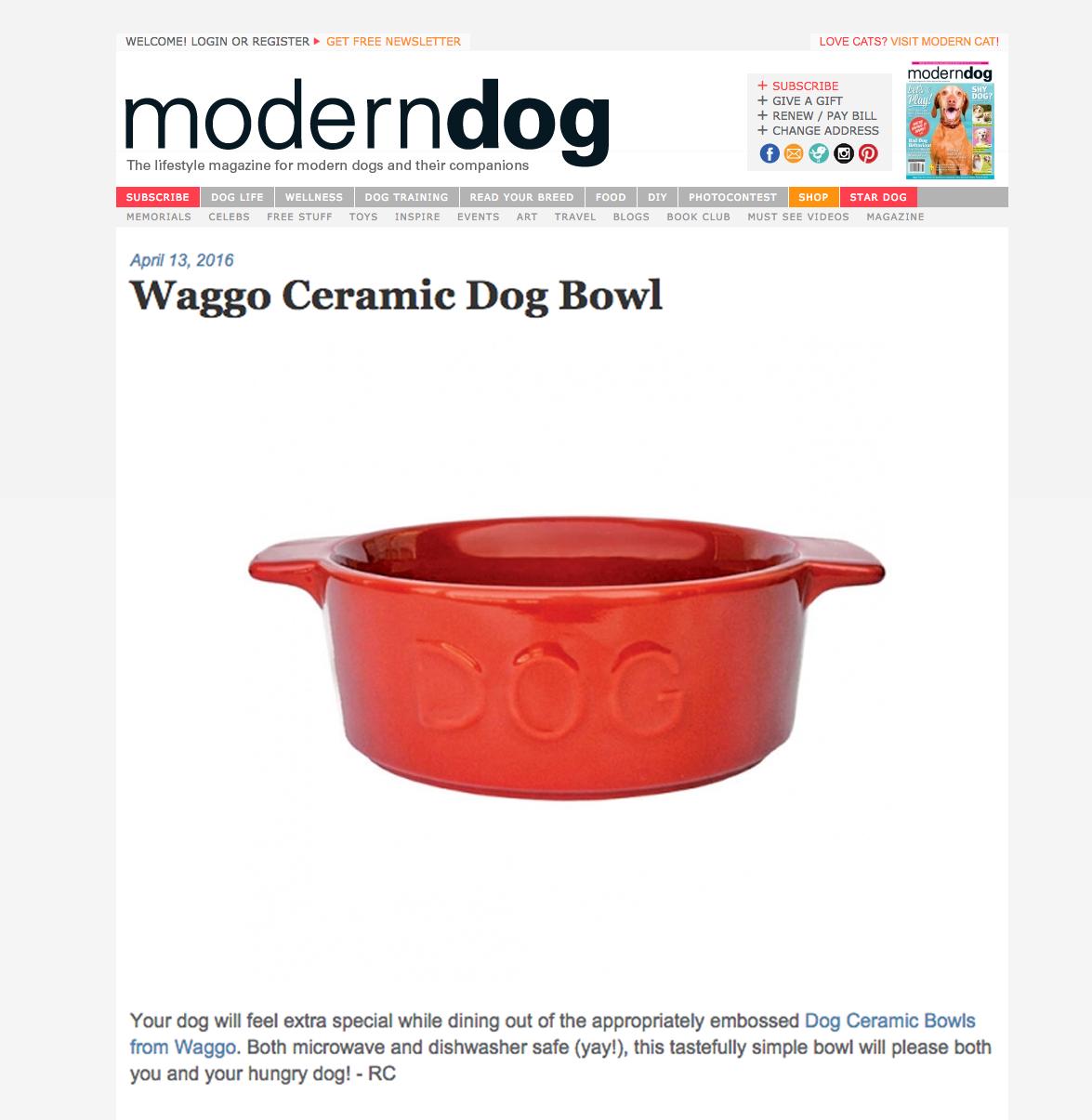 Waggo Modern Dog Clip