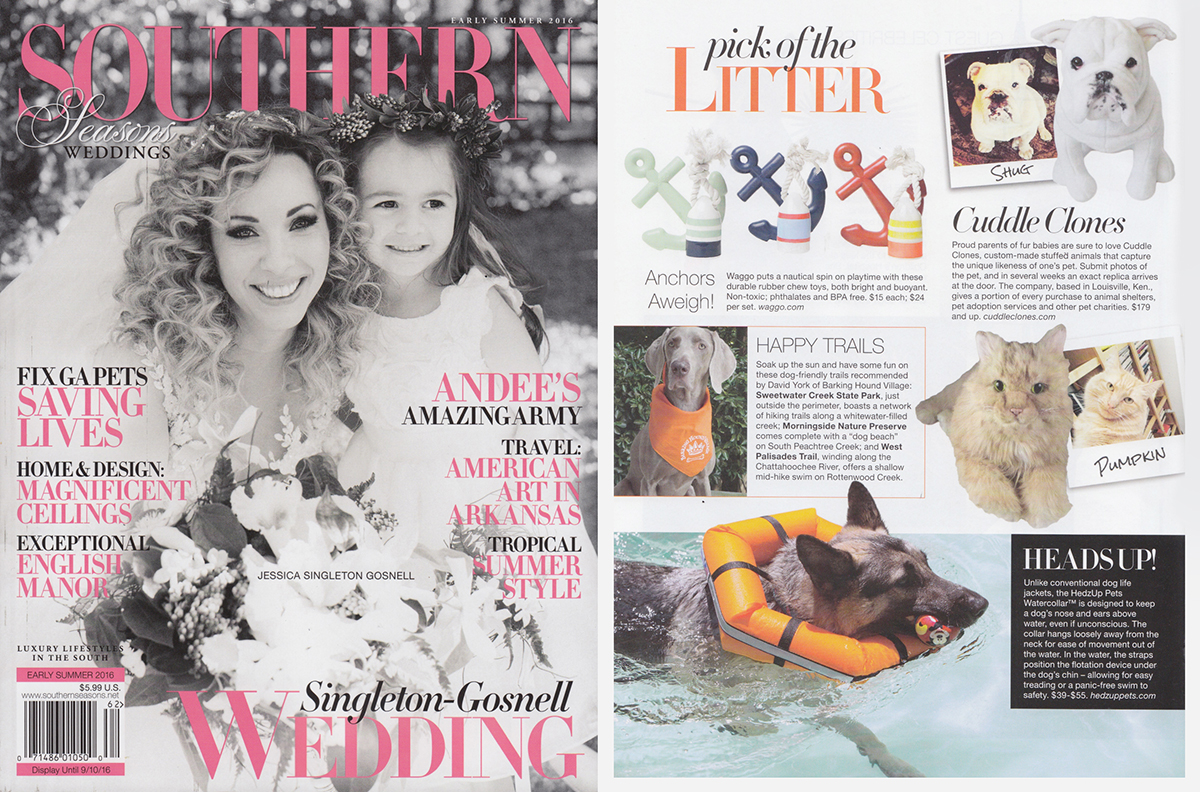 Southern Seasons Magazine - June 2016 - Nautical Dog Toys - Float My Boat Buoy & Anchors Aweigh Anchor Toy