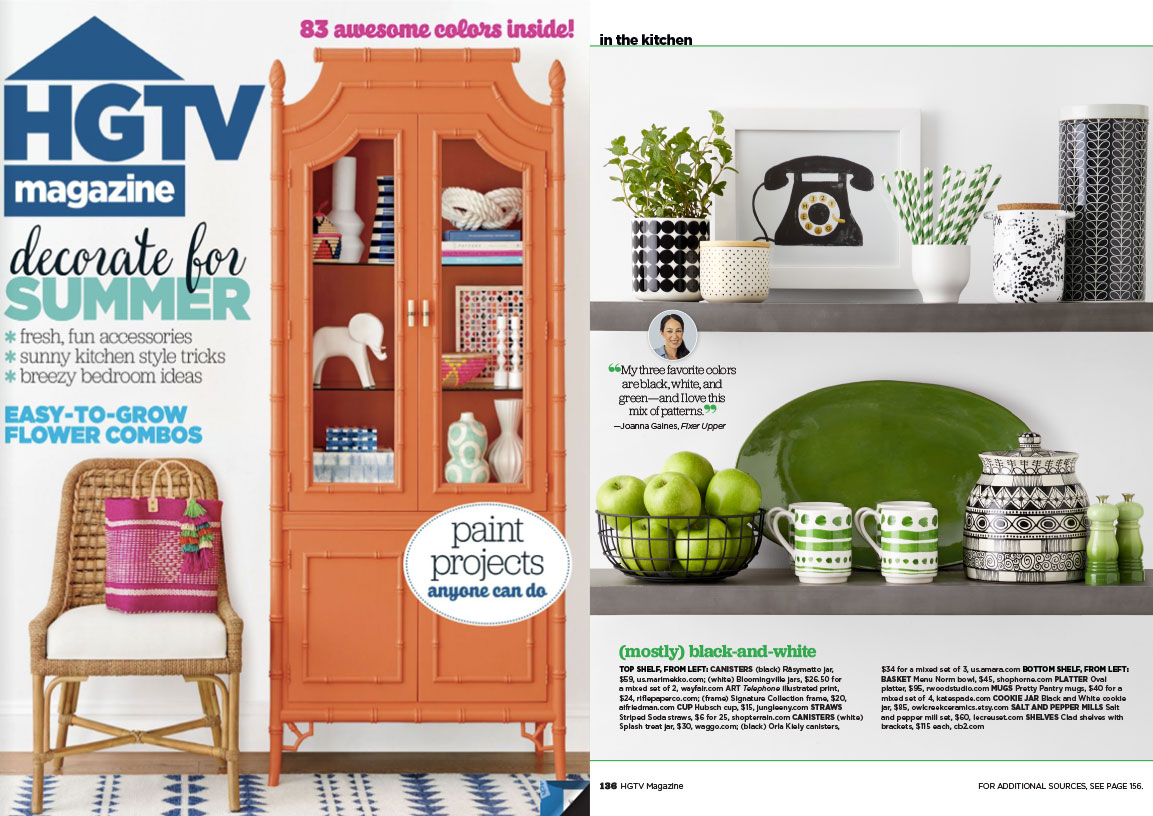 HGTV MAGAZINE WAGGO CERAMIC TREAT JAR